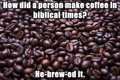 How did a person make coffee in biblical times?