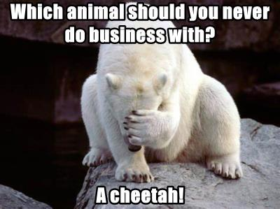 Which animal should you never do business with?