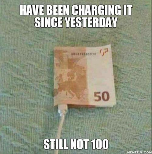 Trying to charge meme money