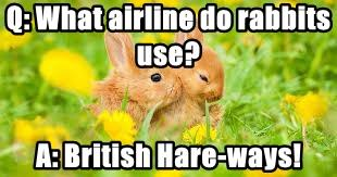 Q: What airline do rabbits use?