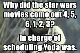 Why did the star wars  movies come out 4, 5, 6, 1, 2, 3?