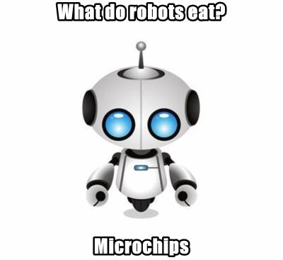 What do robots eat?