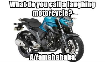 What do you call a laughing motorcycle?