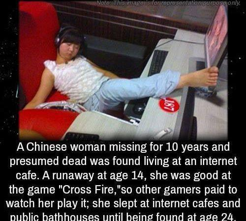 Chinese game player who got lost
