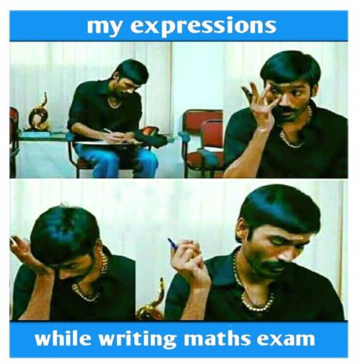 In maths exam