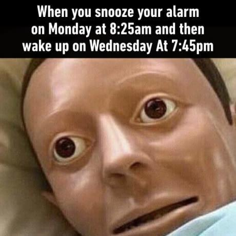 Waking up with alarm
