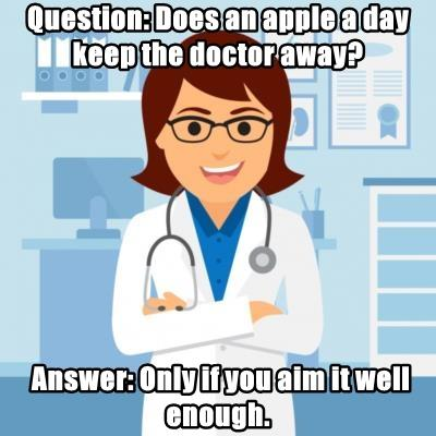 Question: Does an apple a day keep the doctor away?
