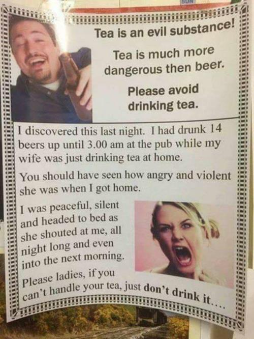 Drinking tea affects your health comedy meme