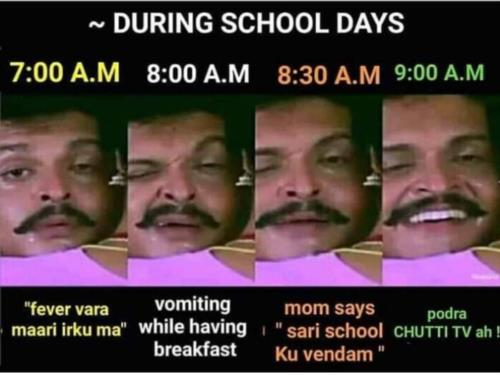 90' kids school days acting meme