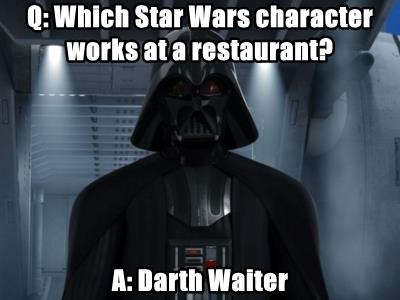 Q: Which Star Wars character works at a restaurant?