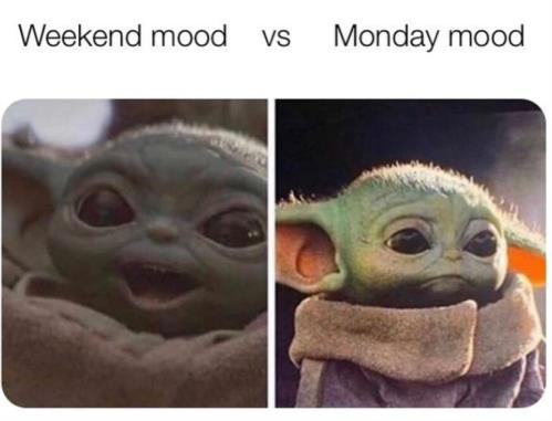 weekend vs monday