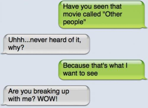 funny breakup texts