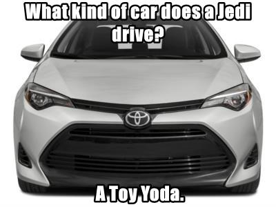 What kind of car does a Jedi drive?