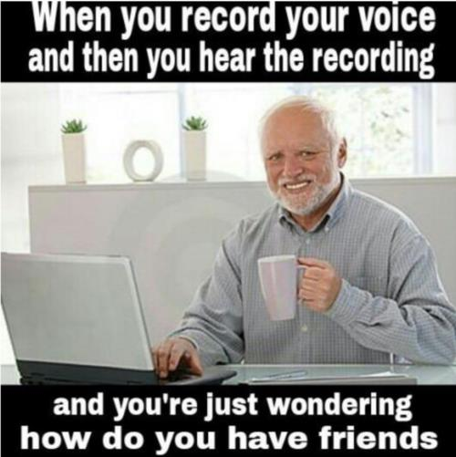 When You Record Your Voice And Hear It Memes
