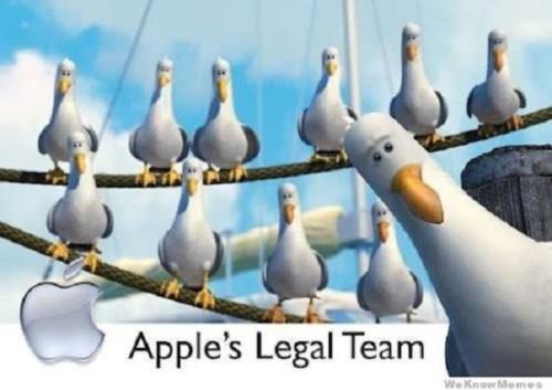 APPLE'S LEGAL TEAM...
