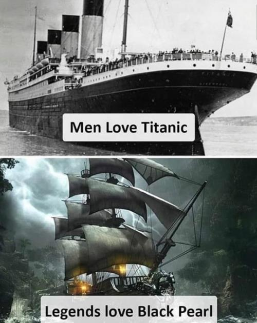 titanic or black pearl