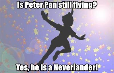 Is Peter Pan still flying?