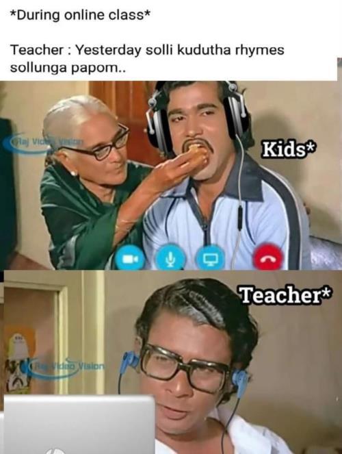 Online class indru poi naalai vaa meme