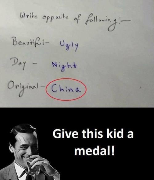 Funny opposite