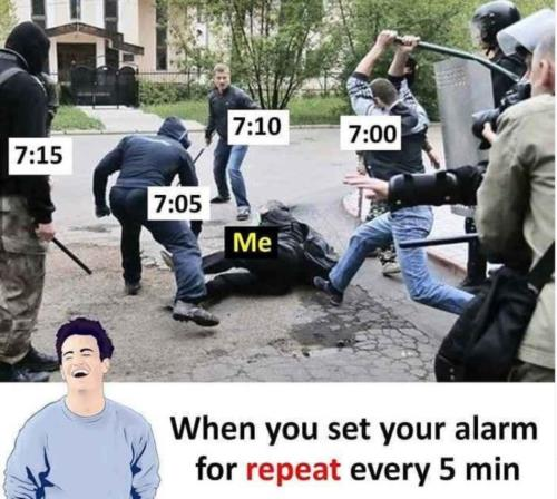 alarm repeats