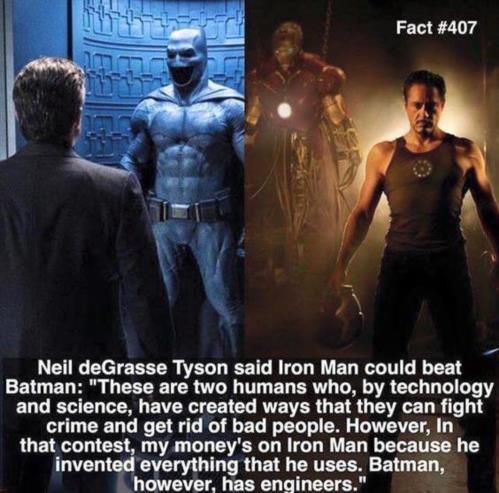 Neil deGrasse Tyson on Batman Vs Iron Man