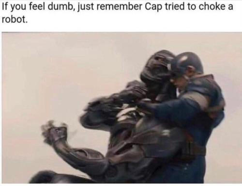 Cap tired to choke a robot 😂😂such a stupid decision