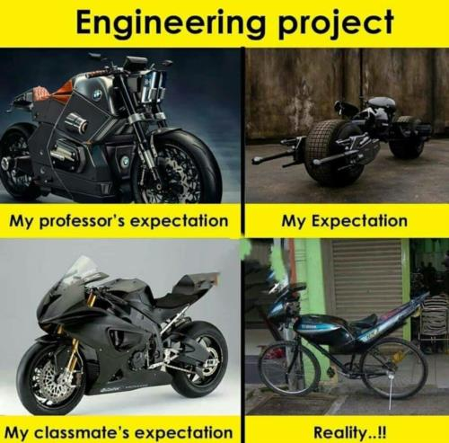 Engineering project be like!!
