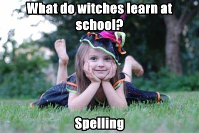 What do witches learn at school?