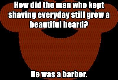 How did the man who kept shaving everyday still grow a beautiful beard?