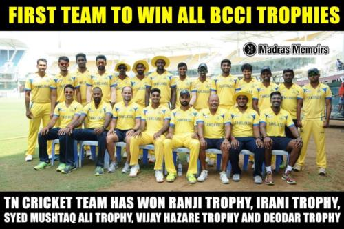 Tamil Nadu Cricket Team    won all trophies