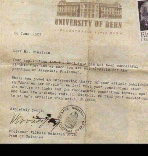 Rejection is not the end Albert Einstein