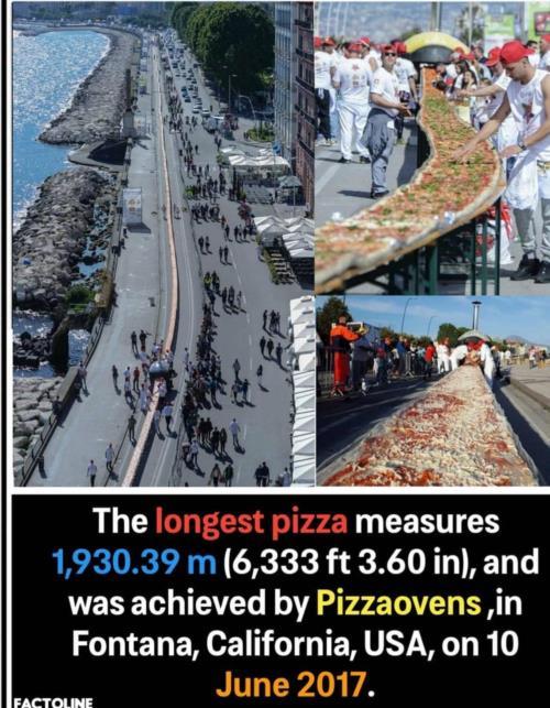 Longest  pizza 🍕