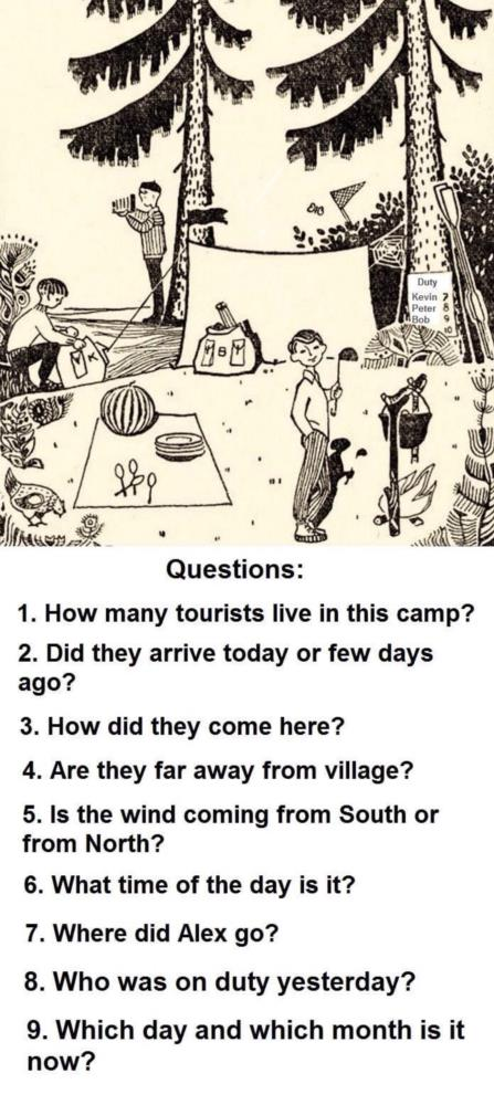 How many tourists live in this camp Riddle