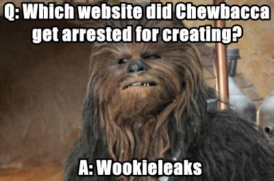 Q: Which website did Chewbacca get arrested for creating?