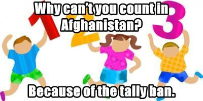 Why can't you count in Afghanistan?