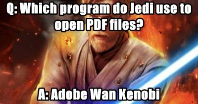 Q: Which program do Jedi use to open PDF files?