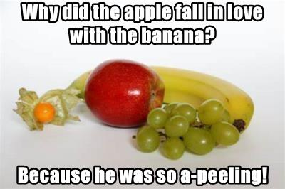 Why did the apple fall in love with the banana?