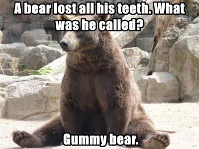 A bear lost all his teeth. What was he called?