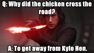 Q: Why did the chicken cross the road?