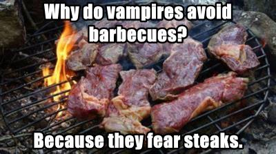 Why do vampires avoid barbecues?