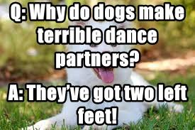Q: Why do dogs make terrible dance partners?