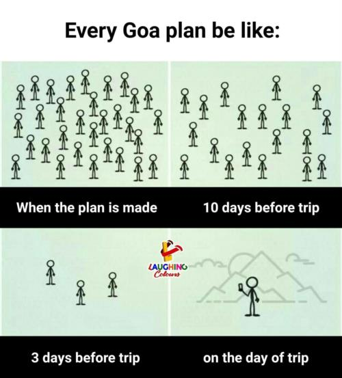Every Goa plan be like