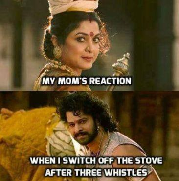 reaction of mom