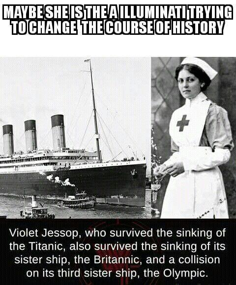 Violet Jossop survived sinking of the Titanic, it#