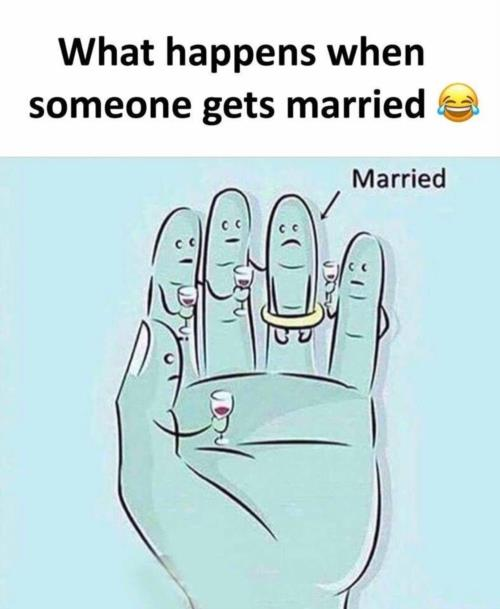 What happens when someone gets married