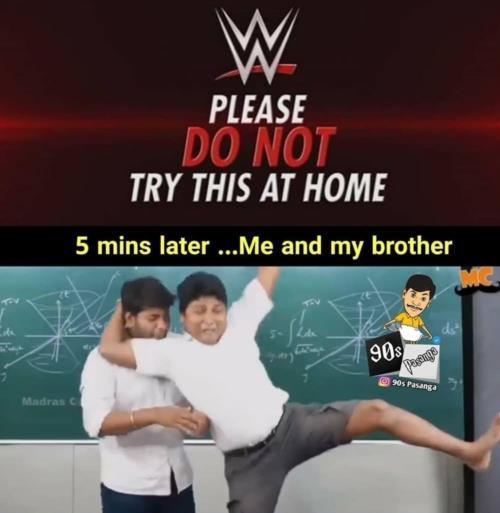 90's kids wwf meme