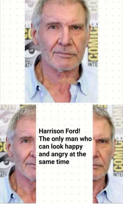 Harrison Ford two faces