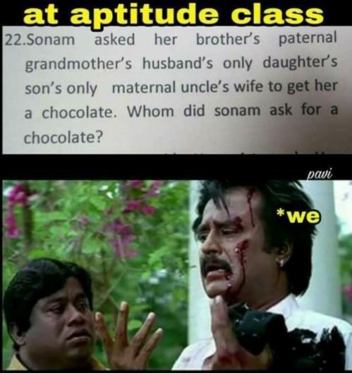 Aptitude class joke