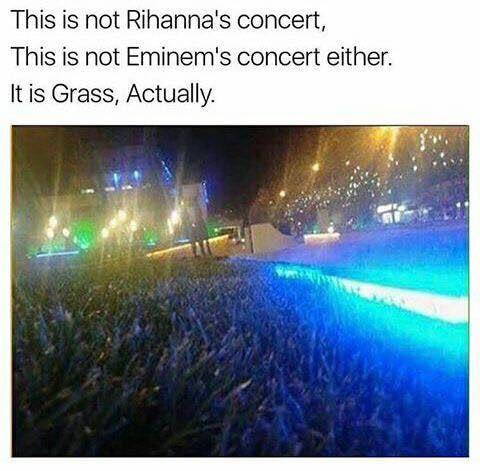 This is not a music concert, just...