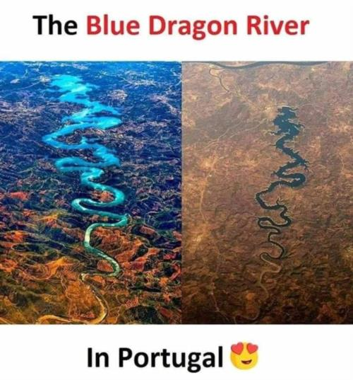 The blue dragon river